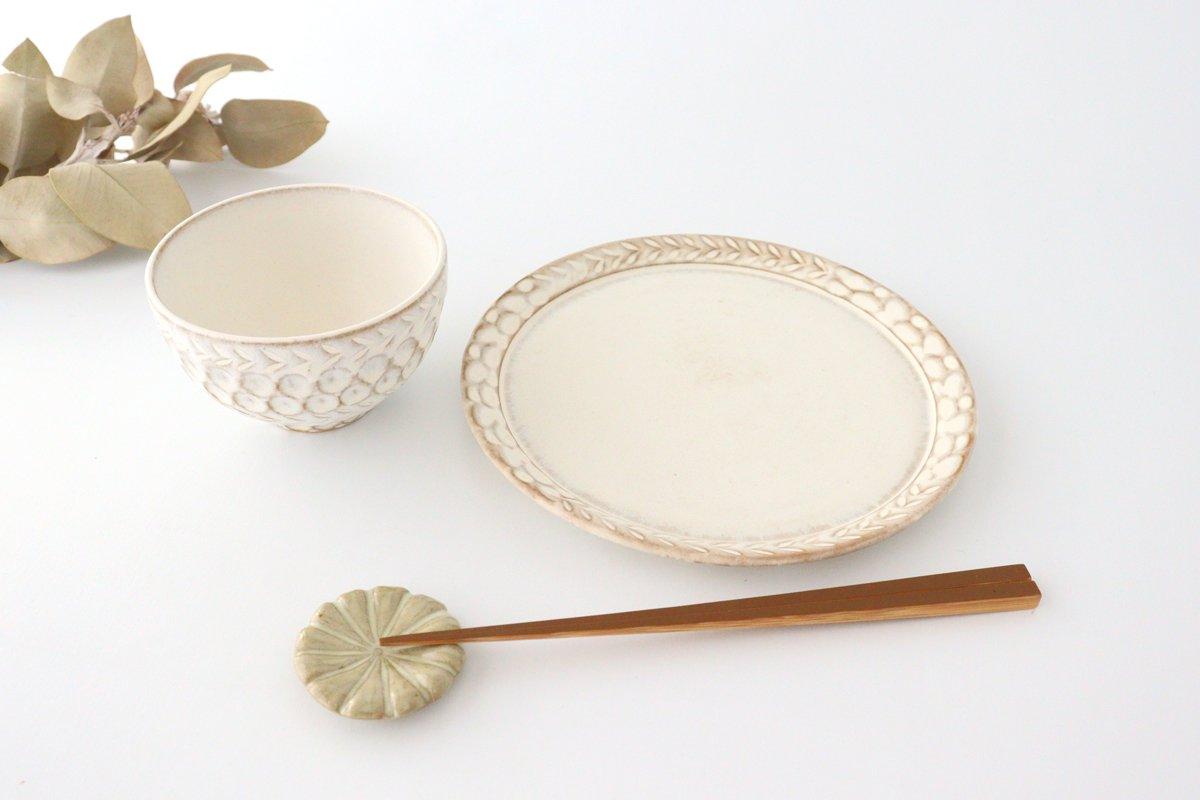 7寸リム皿 白 陶器 小鯖美保子 画像3