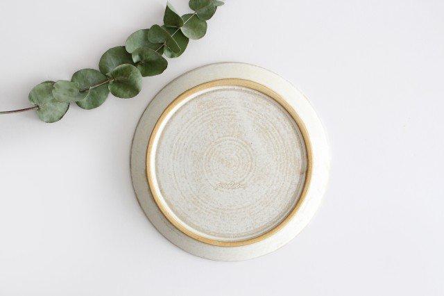7寸リム皿 白 陶器 小鯖美保子 画像4