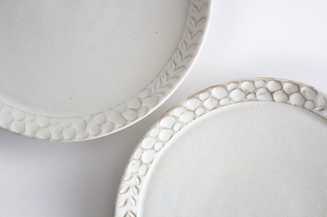 7寸リム皿 白 陶器 小鯖美保子 画像6