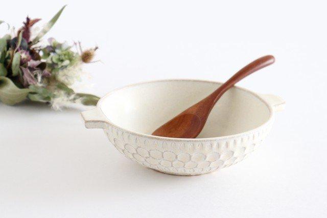 スープカップ 白 陶器 小鯖美保子