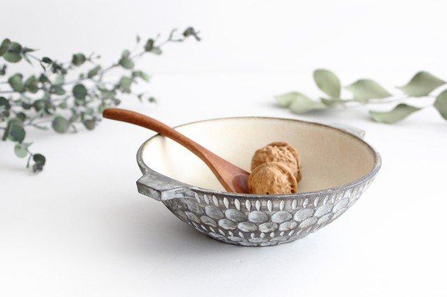 スープカップ 黒 陶器 小鯖美保子