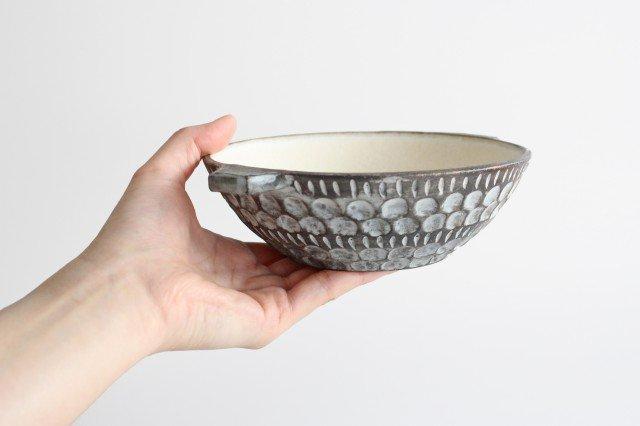 スープカップ 黒 陶器 小鯖美保子 画像2