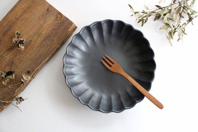 リンカ 大 チャコールブラック 陶器 わかさま陶芸 益子焼