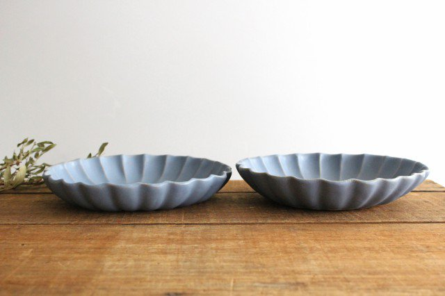 リンカ 大 ブルーグレー 陶器 わかさま陶芸 益子焼 画像2