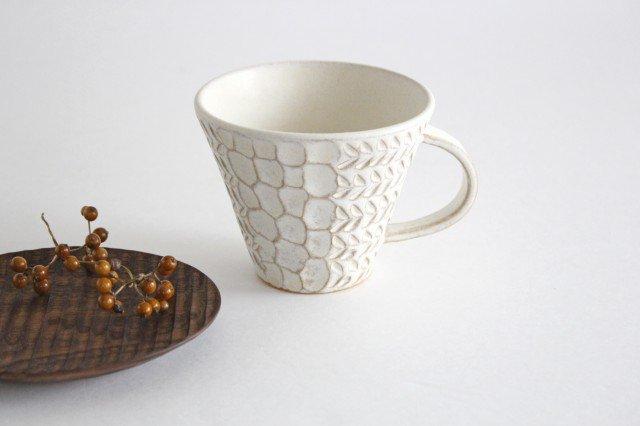 マグカップ 白 陶器 小鯖美保子