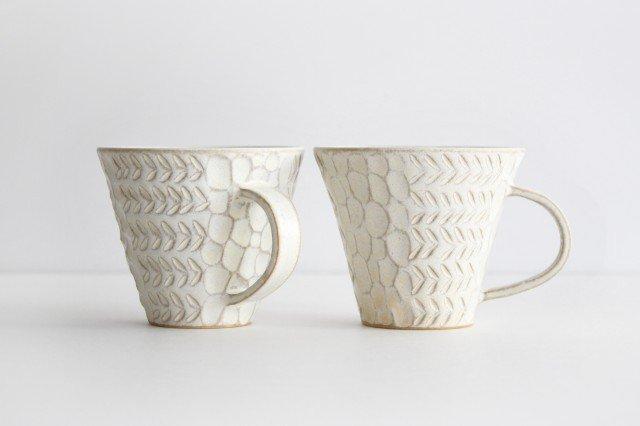 マグカップ 白 陶器 小鯖美保子 画像2