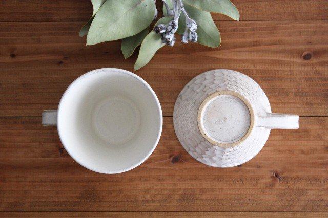 マグカップ 白 陶器 小鯖美保子 画像3