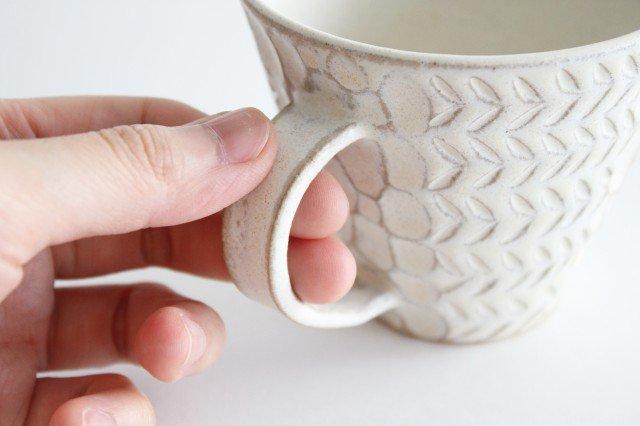 マグカップ 白 陶器 小鯖美保子 画像4