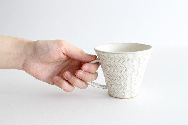 マグカップ 白 陶器 小鯖美保子 画像6