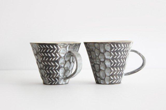 マグカップ 黒 陶器 小鯖美保子 画像3