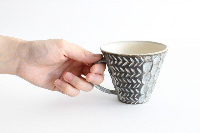 マグカップ 黒 陶器 小鯖美保子 画像6