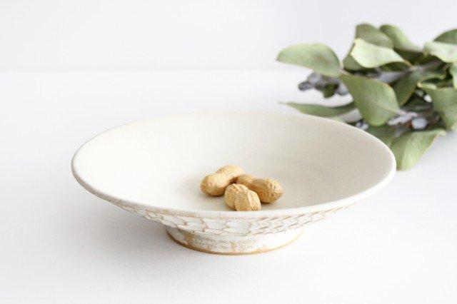 6寸鉢 白 陶器 小鯖美保子