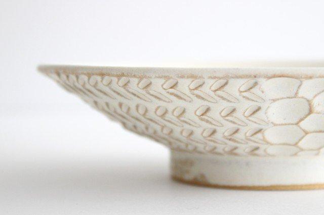 6寸鉢 白 陶器 小鯖美保子 画像2