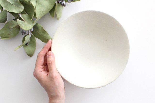 6寸鉢 白 陶器 小鯖美保子 画像3