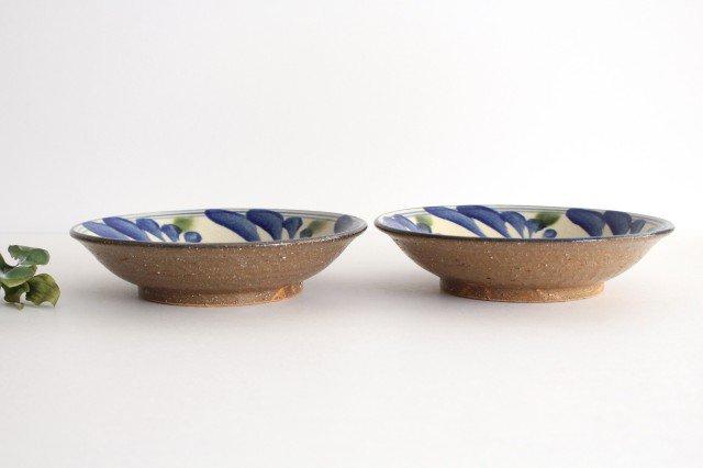 7寸皿 唐草 ゴスオーグスヤ 陶器 陶芸こまがた 駒形爽飛 やちむん 画像2