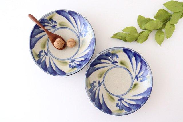 7寸皿 唐草 ゴスオーグスヤ 陶器 陶芸こまがた 駒形爽飛 やちむん 画像4
