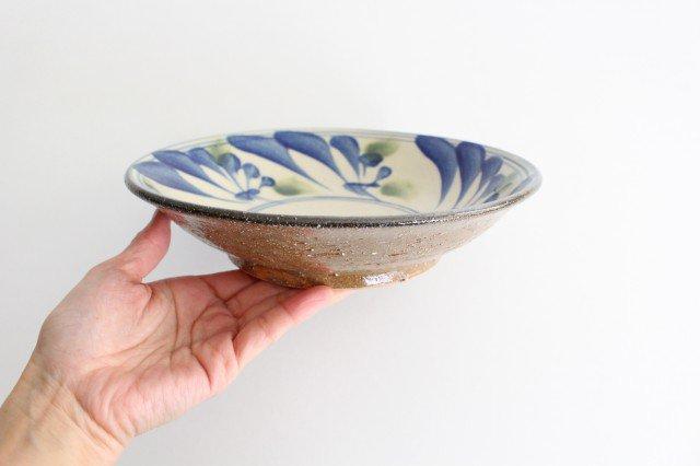7寸皿 唐草 ゴスオーグスヤ 陶器 陶芸こまがた 駒形爽飛 やちむん 画像5