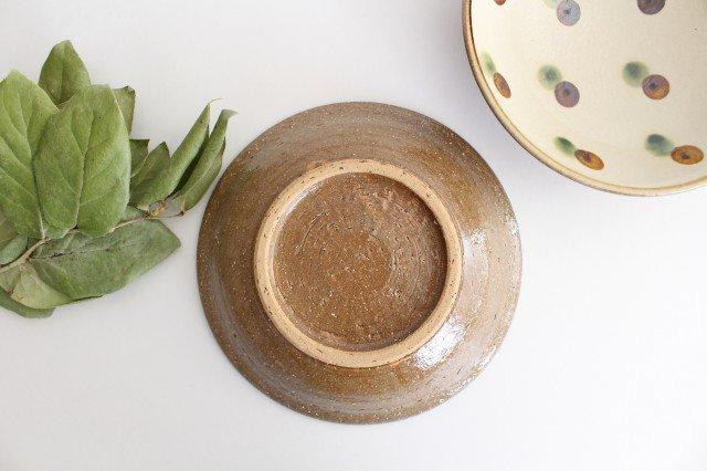 7寸皿 ドット オーグスヤアメ 陶器 陶芸こまがた 駒形爽飛 やちむん 画像2
