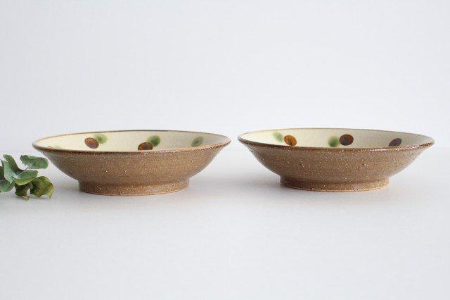 7寸皿 ドット オーグスヤアメ 陶器 陶芸こまがた 駒形爽飛 やちむん 画像3