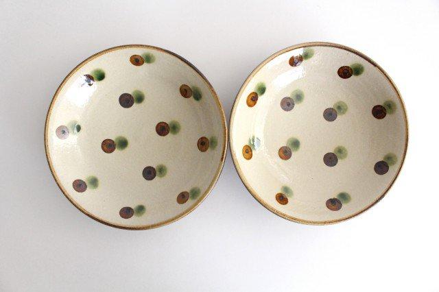 7寸皿 ドット オーグスヤアメ 陶器 陶芸こまがた 駒形爽飛 やちむん 画像4