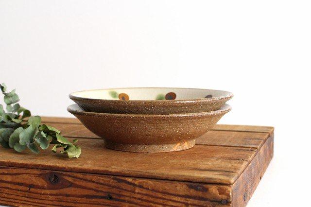 7寸皿 ドット オーグスヤアメ 陶器 陶芸こまがた 駒形爽飛 やちむん 画像6