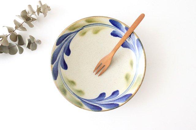 7寸皿 デイゴ ゴスオーグスヤ 陶器 陶芸こまがた 駒形爽飛 やちむん
