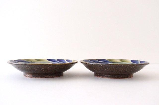 7寸皿 デイゴ ゴスオーグスヤ 陶器 陶芸こまがた 駒形爽飛 やちむん 画像2