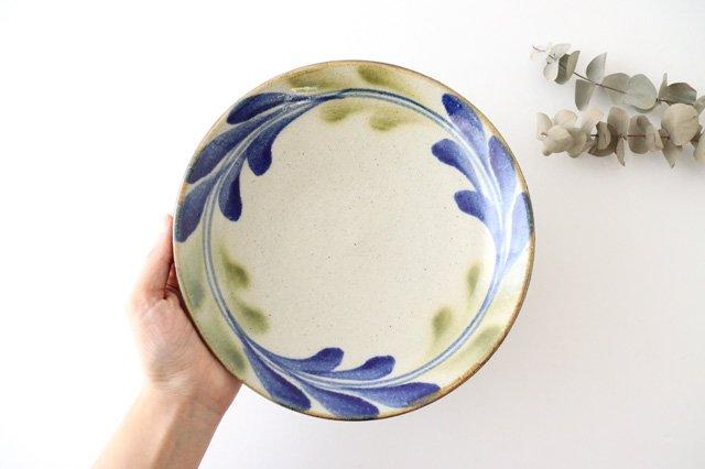 7寸皿 デイゴ ゴスオーグスヤ 陶器 陶芸こまがた 駒形爽飛 やちむん 画像3
