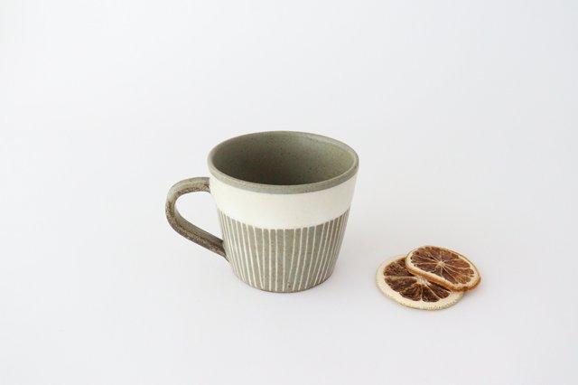 マグカップ 松葉象がん ブラウン 陶器 美濃焼