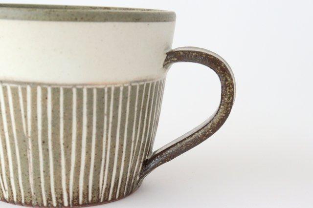 マグカップ 松葉象がん ブラウン 陶器 美濃焼 画像3