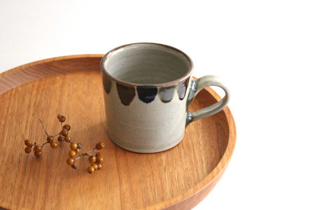 コーヒーカップ 3色ドット 陶器 mug やちむん
