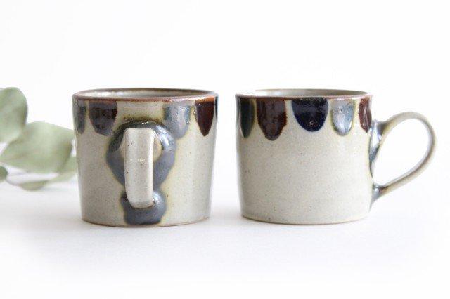 コーヒーカップ 3色ドット 陶器 mug やちむん 画像3