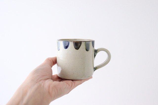 コーヒーカップ 3色ドット 陶器 mug やちむん 画像4