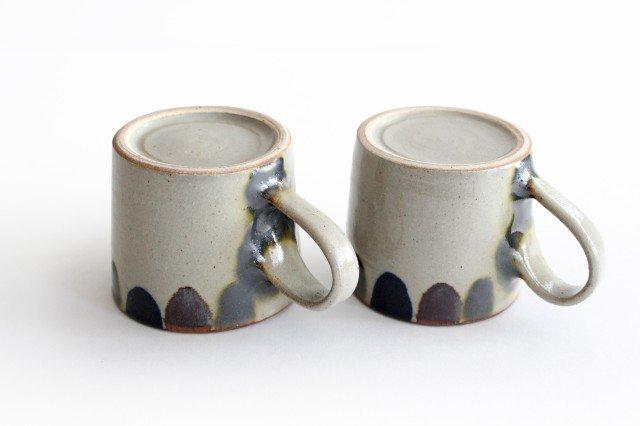 コーヒーカップ 3色ドット 陶器 mug やちむん 画像5