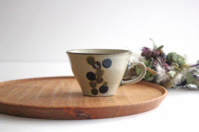 ティーカップ 連ドット 陶器 mug やちむん