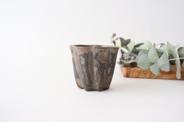 カヌレ茶器 茶杯 ブロンズ 磁器 藤村佳澄