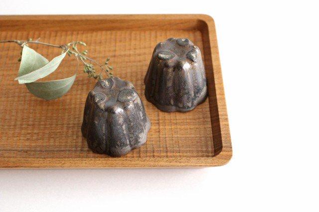 カヌレ茶器 茶杯 ブロンズ 磁器 藤村佳澄 画像3