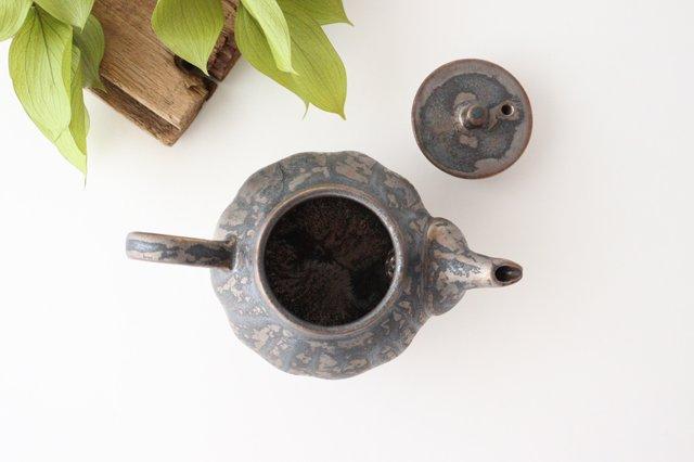 カヌレ茶器 茶壺 ブロンズ 磁器 藤村佳澄 画像2