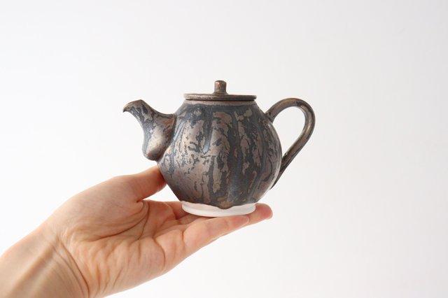 カヌレ茶器 茶壺 ブロンズ 磁器 藤村佳澄 画像3