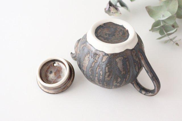 カヌレ茶器 茶壺 ブロンズ 磁器 藤村佳澄 画像4