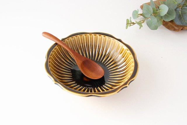 輪花鉢 飴釉 【B】 陶器 はなクラフト