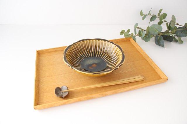 輪花鉢 飴釉 【B】 陶器 はなクラフト 画像2