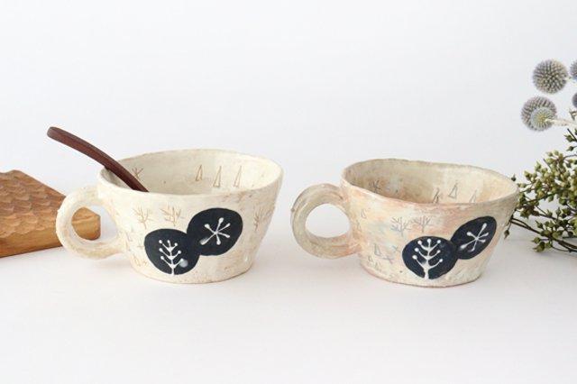雫の森 スープカップ 森の生活 陶器 こむろしずか 画像4