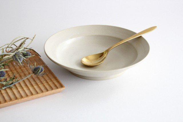 スープリム皿 白せと 陶器 青人窯 大山 育男