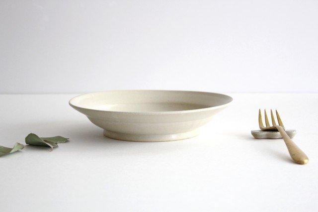 スープリム皿 白せと 陶器 青人窯 大山 育男 画像3