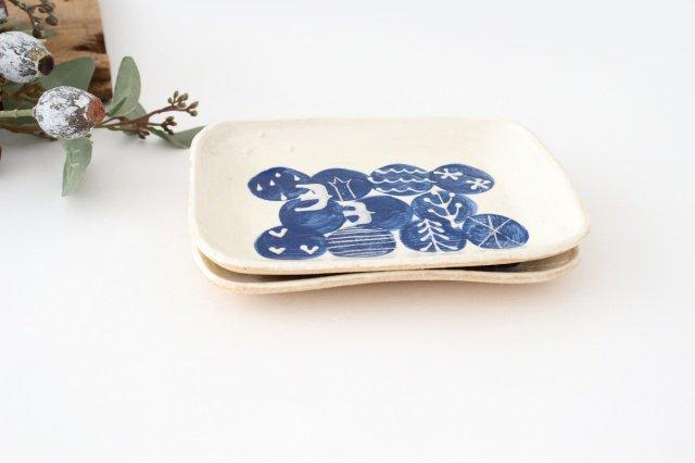 雫の森 小皿 群青の森 陶器 こむろしずか 画像5
