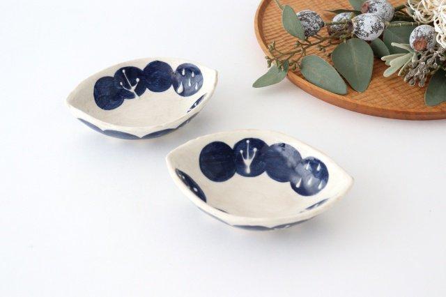 雫の森 レモン型小皿 群青の森 陶器 こむろしずか 画像2