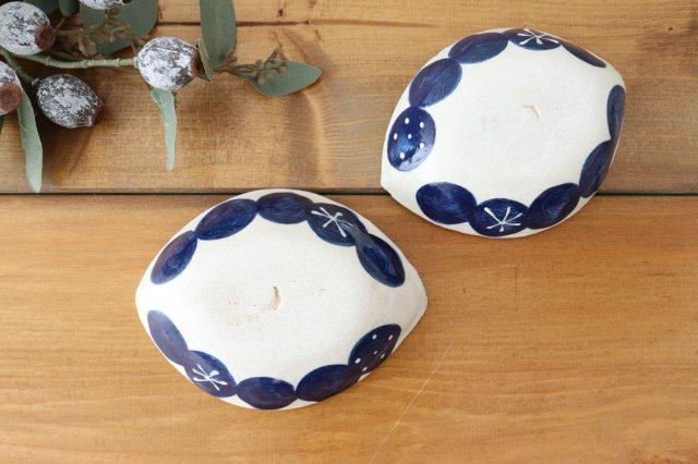 雫の森 レモン型小皿 群青の森 陶器 こむろしずか 画像3