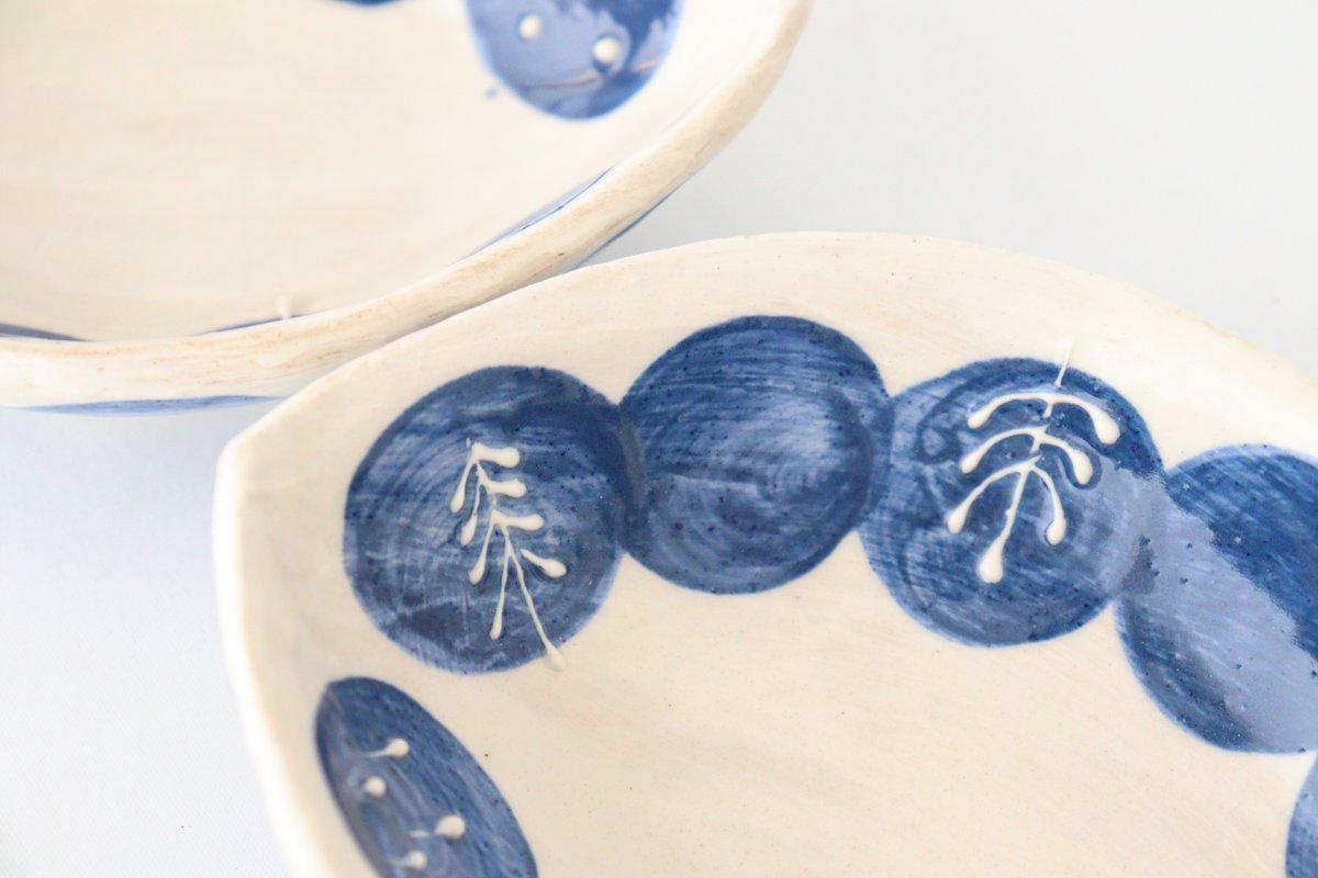 雫の森 レモン型小皿 群青の森 陶器 こむろしずか 画像4