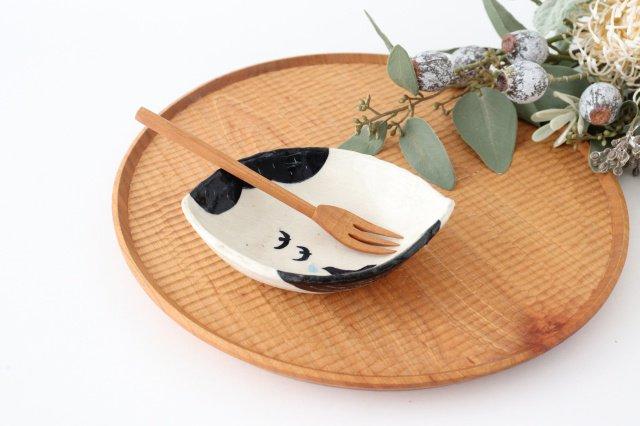 雫の森 レモン型小皿 光の露 陶器 こむろしずか
